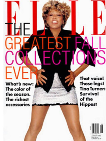 Tina Turner Elle Magazine Cover