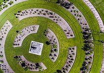 Campo de hierba diseñado