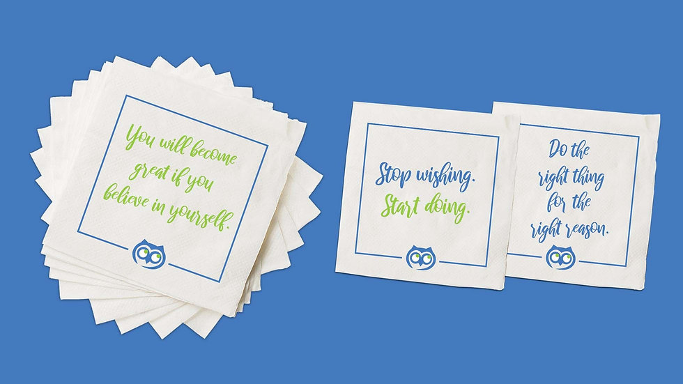 Lunchbox Encouragement Napkins