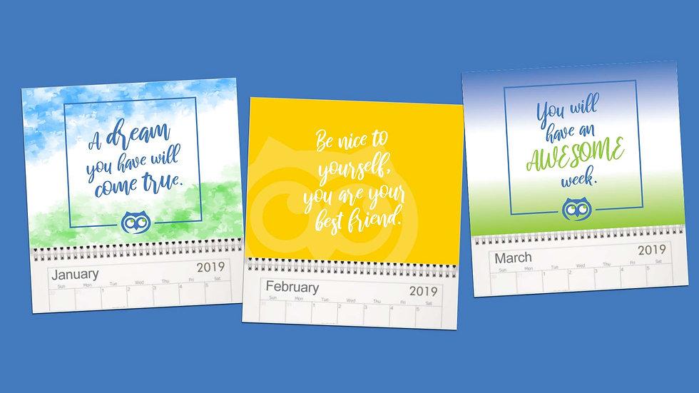 2019 Wize Wall Calendar
