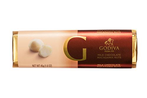 Godiva Bâton Chocolat Au Lait & Macadamia, 45 g