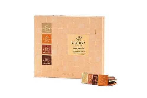 Godiva 60 Carrés Assortiment, 60 pcs