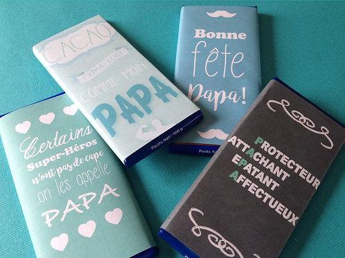 Tablette de chocolat GODIVA édition fête des pères