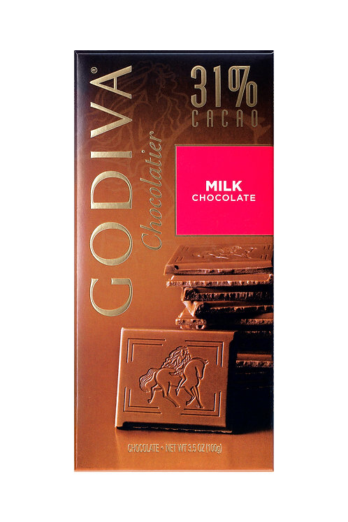 Godiva Tablette Chocolat Au Lait 31%, 100 g