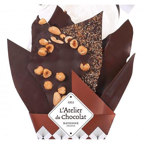 Bouquet de Chocolats® 100% Noir 220g + carré personnalisé