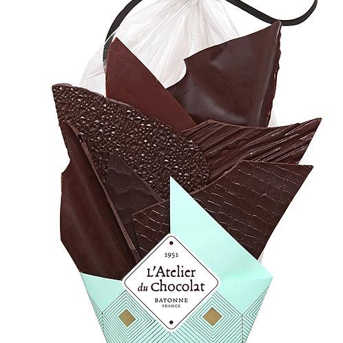 Bouquet de Chocolats® Grandes Origines 220g + carré personnalisé