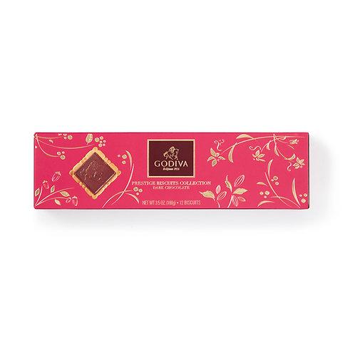 Godiva Prestige Biscuits Chocolat Noir ou Lait, 100 g