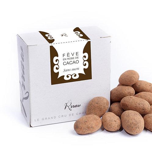 Fève de cacao enrobées de chocolat cru sans sucre