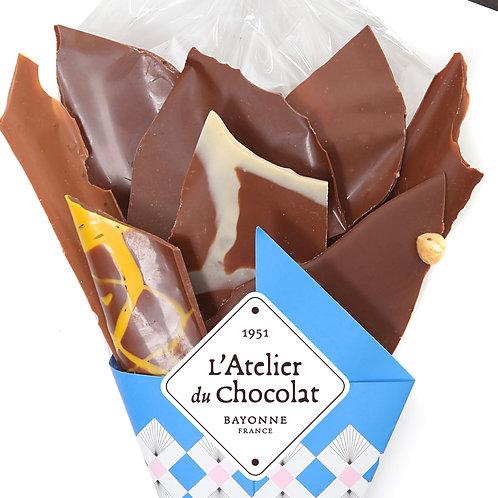 Bouquet de Chocolats® 100% Lait 270g + carré personnalisé