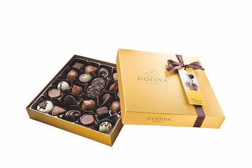 Godiva Boîte Rigide Gold, 14 ou 24 chocolats