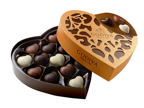 Godiva Coeur Iconique, 6 ou 14 chocolats