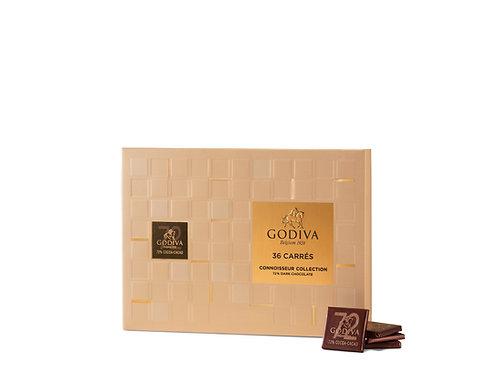Godiva 36 Carrés Noir 72%