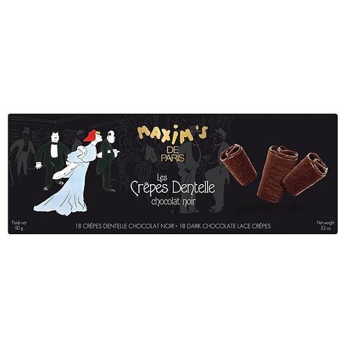 Etui 18 crêpes dentelle chocolat au noir