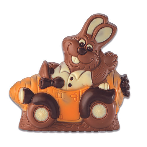 Lapin voiture - 13cm 150g