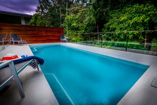 7 metre crystal clear heated pool for your far north coast holiday enjoyment all year round.