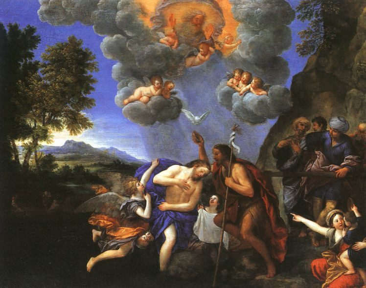 """The Baptism of Christ"", oil on canvas - Francesco Albani (1578 – 1660)"