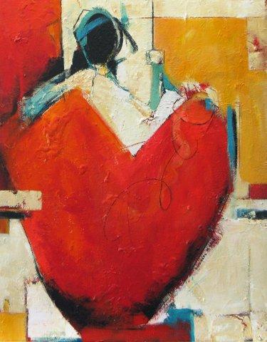 Woman as Vessel in Red II