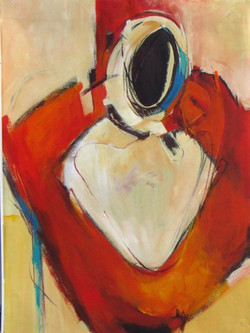 Woman as Vessel in Red IV