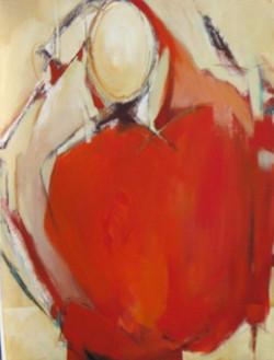 Woman as Vessel in Red III