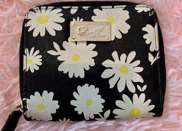 Betsey Johnson Mini Wallet - Black Floral
