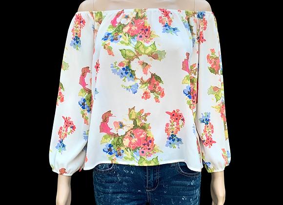 Floral Creamy & Dreamy Top - L