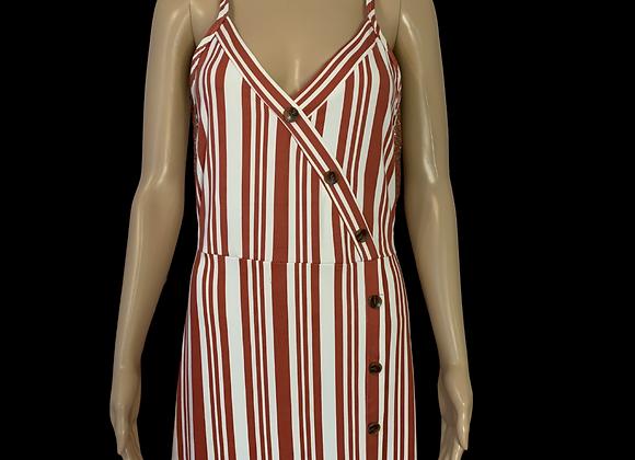 Striped & Sexy Tank Dress - L