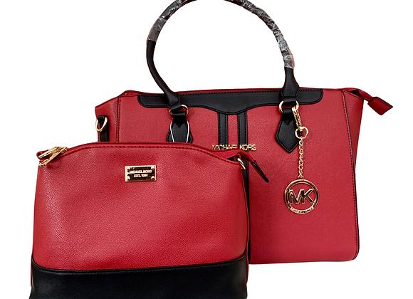 MK Handbag Set - Red