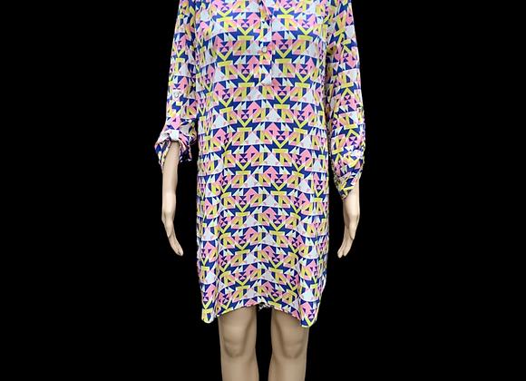 Kaleidoscope Shirt Dress - L