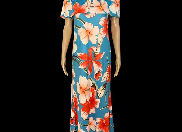 Summer Floral Maxi Dress - XL