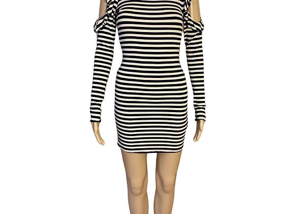 Agaci Striped Dress - M