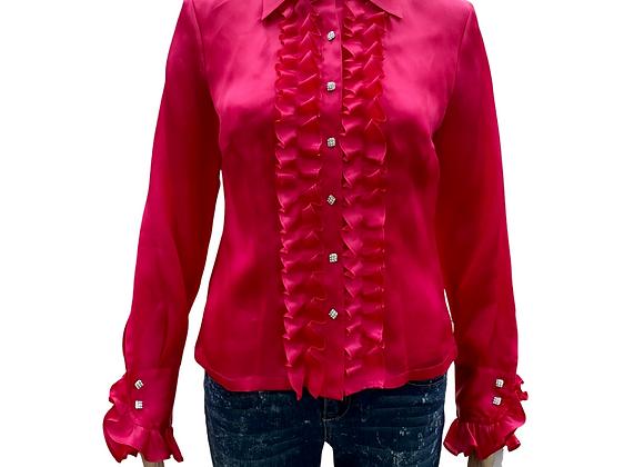 Pink Pop Silk Top - Sz 4