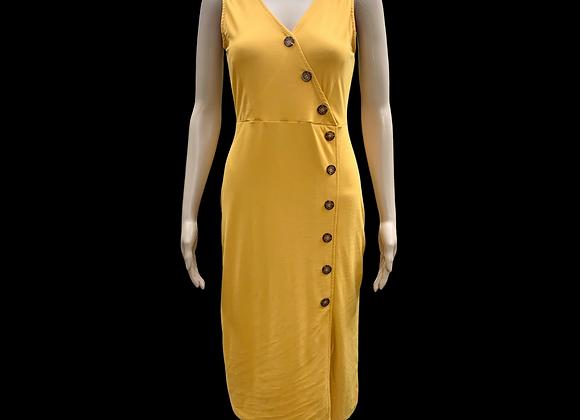 Yellow Custard Tank Dress - M