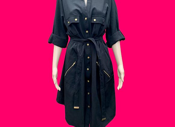 Belted Shirt Dress - Sz 14W
