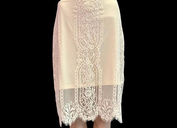 Lace & Ivory Skirt - L