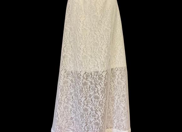 Ivory Crochet Skirt  - XL