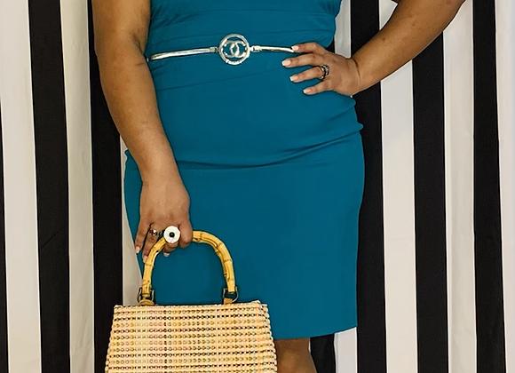 Turquoise Calvin Klein Dress - Sz 14