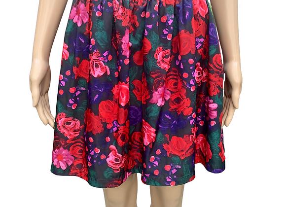 Flirty Floral Mini Skirt - XL