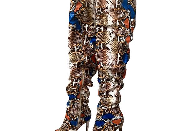 Fashion Nova Snake Boots - Sz 6