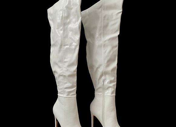 Fashion Nova Boots - Croc White