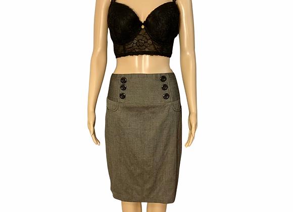 Button Babe Pencil Skirt - Sz 13