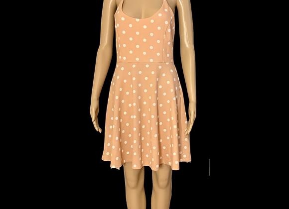 Just Peachy Skater Dress - L