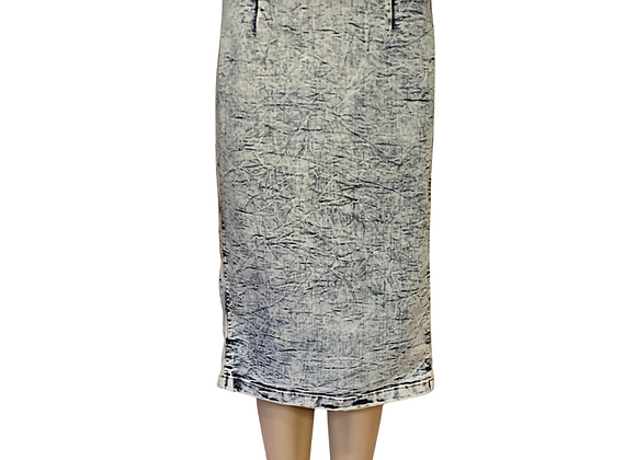 Acid Wash Pencil Skirt - L