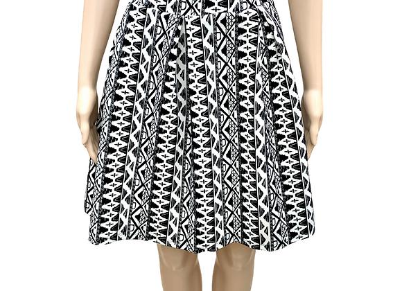 Tribal Print Skater Skirt - 2X