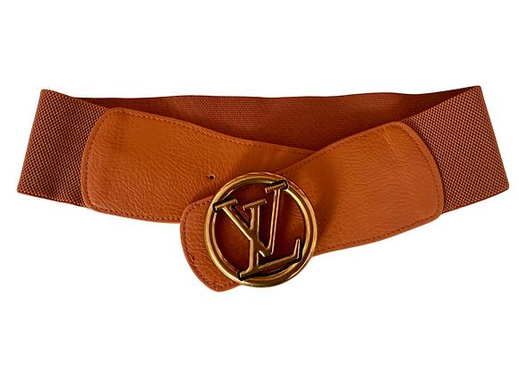 LV Belt - Brown Stretch