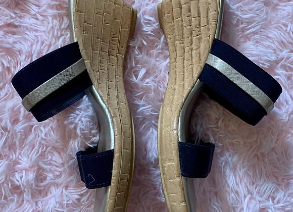 Italian Shoemakers Wedge Sandal - Sz 7.5