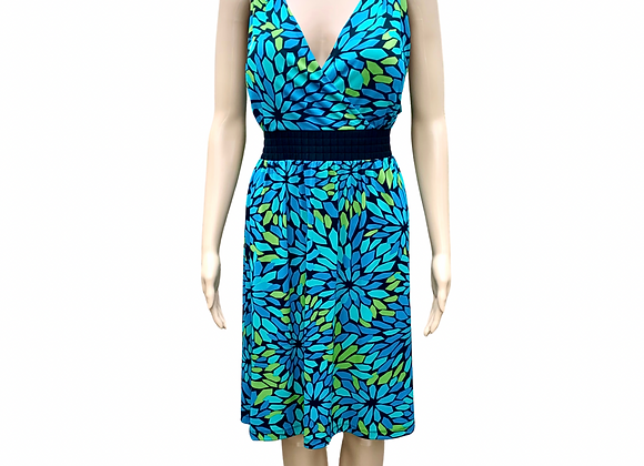 Turquoise Blossom Dress - XL