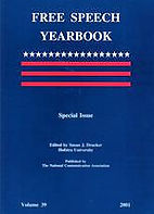Free Speech Yearbook cover