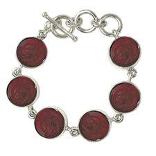 Gabriella Nanni Sterling Silver Round Bracelet Rosso