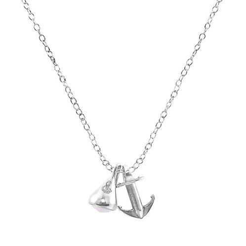 Anchor&Crew - White Moonstone Sinker Buoy Silver And Stone Necklace Pendant