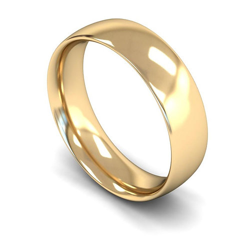 9ct Yellow Gold 6mm Traditional Court Medium